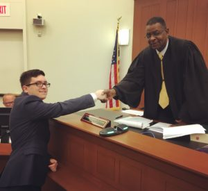 That feeling you get when your mentee gets sworn in to practice law.